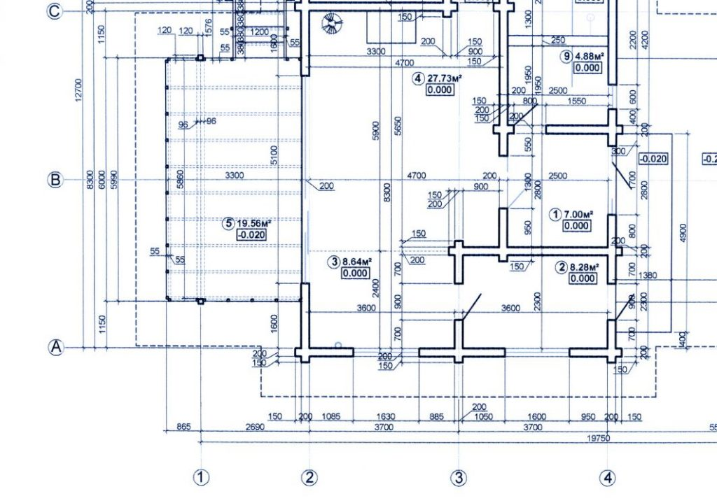 Blueprint of a building